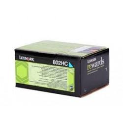 Lexmark toner ciano 802HC 3.000 pagine