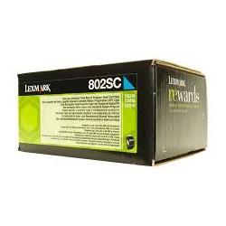 Lexmark toner ciano 802SC 2.000 pagine